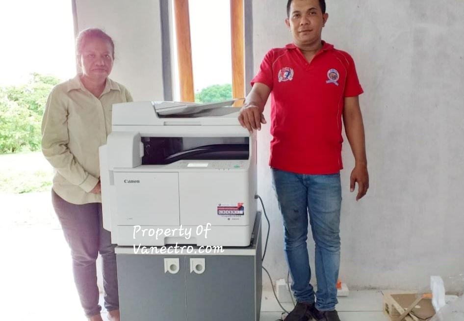 Pengiriman Penjualan Mesin Fotocopy Canon Ir 2004n + Dadf Milik Ibu. Maria
